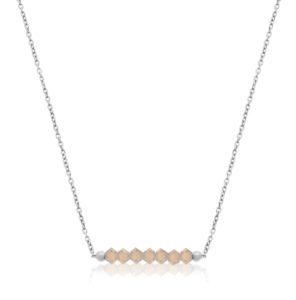 Naszyjnik 'GLAM' Light Grey Opal