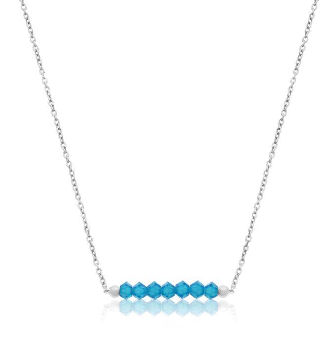 Naszyjnik 'GLAM' Caribbean Blue Opal