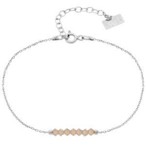 Bransoletka 'GLAM' Light Grey Opal