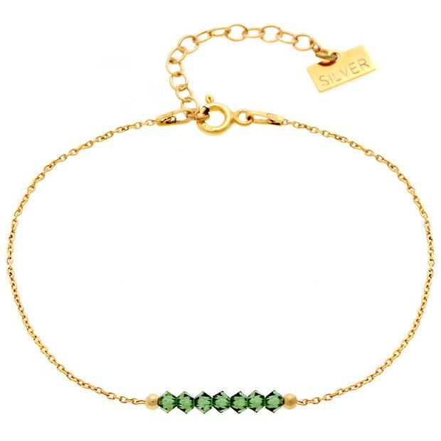 Bransoletka 'GLAM' Green Tourmaline