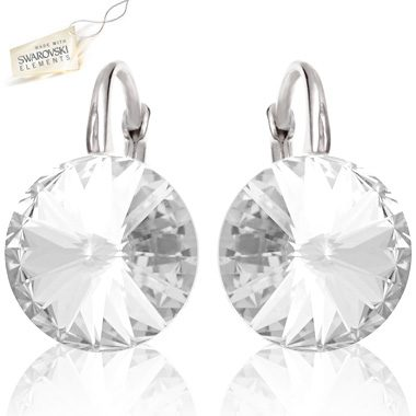 SWAROVSKI® RIVOLI Kolczyki Crystal