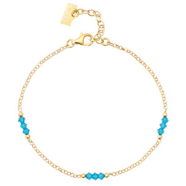 Bransoletka 'GLAM' Caribbean Blue Opal