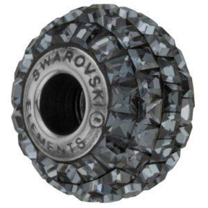 SWAROVSKI® BeCharmed Square Crystal Silver Night
