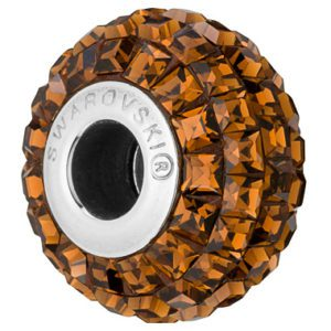 SWAROVSKI® BeCharmed Square Smoked Topaz